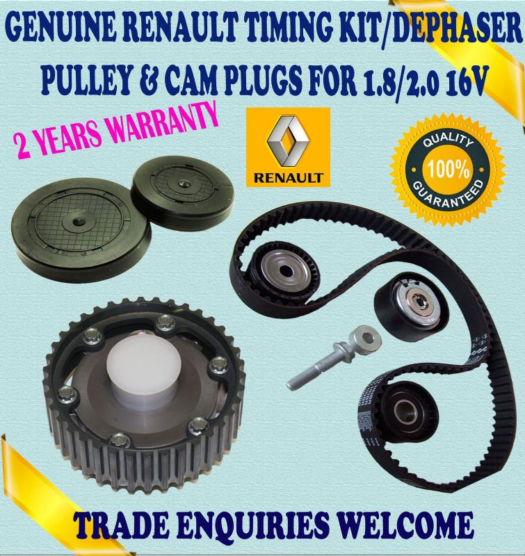 For RENAULT LAGUNA I ESPACE III 1.8/2.0 TIMING BELT TENSIONER KIT & DEPHASER PULLEY